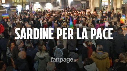 Napoli, il popolo delle Sardine scende in piazza contro la guerra