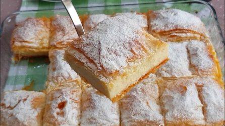 Torta cremosa di sfoglia: la ricetta del dessert che accontenta tutti