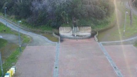 Il Parco Virgiliano resta chiuso: pericolo caduta alberi a causa del maltempo