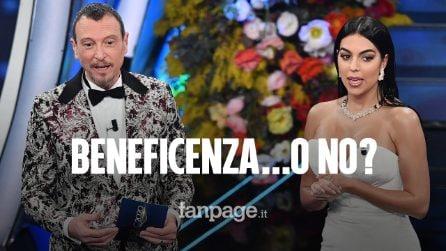 """Sanremo 2020, Georgina: """"Dono cachet a ospedale di Torino"""". Ma la struttura: """"Non ne sappiamo nulla"""""""