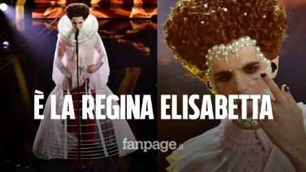 Achille Lauro come Elisabetta I Tudor: nella finale di Sanremo è la regina vergine e libera