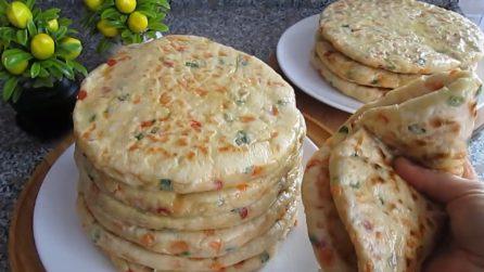 Piadine soffice con verdure: la ricetta gustosa da servire al posto del pane