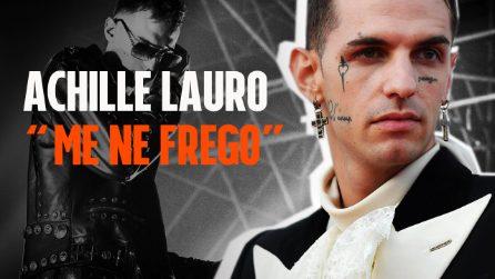 """Sanremo 2020, Achille Lauro: il significato della canzone """"Me ne frego"""""""