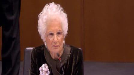 """Liliana Segre al Parlamento UE: """"Ancora oggi c'è chi nega l'Olocausto"""""""