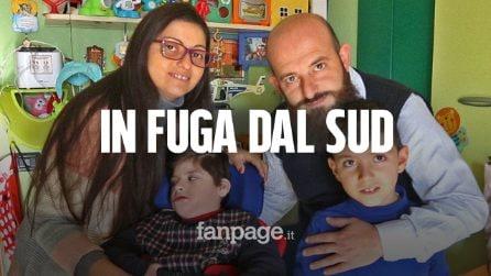 """Luca e Simona, genitori disperati: """"Costretti a scappare dal Sud per curare i nostri figli disabili"""""""
