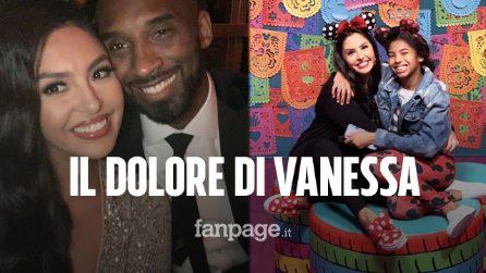 """Il messaggio straziante di Vanessa, moglie di Kobe Bryant e mamma di Gianna: """"Dolore devastante"""""""