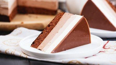 Torta ai tre cioccolati: il dessert goloso perfetto per ogni occasione!
