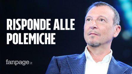 """Sanremo 2020, dal """"passo indietro"""" a Junior Cally: Amadeus risponde così alle polemiche"""