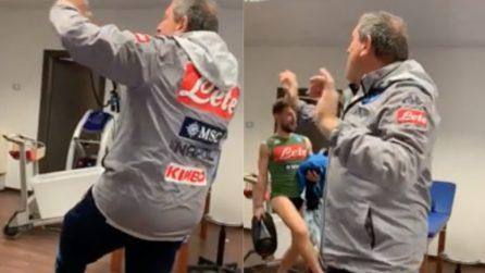 """Mertens si scatena nello spogliatoio: dopo l'infortunio ritorna """"Ciro"""""""