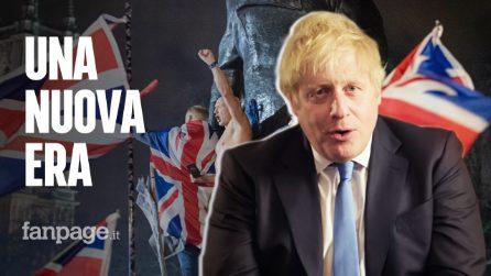 """Brexit, gli inglesi lasciano l'Europa. Il premier Johnson: """"Comincia una nuova era"""""""