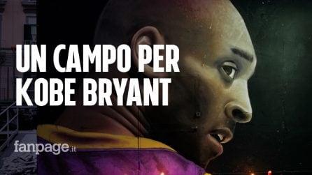 Kobe Bryant, a Napoli un meraviglioso campo da basket coi murales di Jorit e l'aiuto dei cittadini