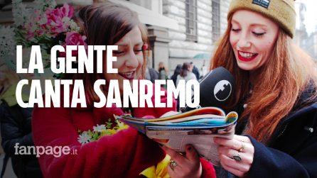 Sanremo 2020: le canzoni del Festival cantante dai passanti