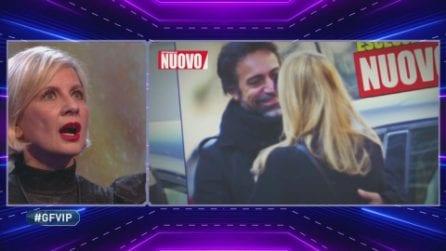 GfVip 2020, Antonella Elia vede le foto del gossip su Pietro e Fiore Argento