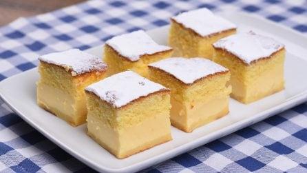 Quadrotti magici: la torta cremosa che vi conquisterà al primo morso!
