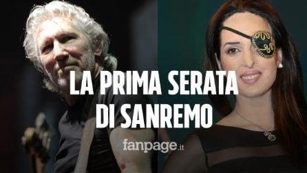 Festival di Sanremo, nella prima serata il messaggio di Roger Waters e la canzone di Gessica Notaro