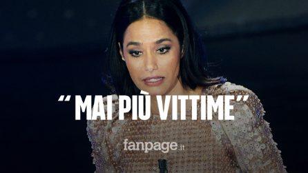 """Sanremo 2020, il monologo da brividi di Rula Jebreal: """"Non vogliamo essere più vittime"""""""