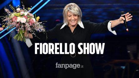 """Festival di Sanremo 2020, Fiorello si veste da Maria De Filippi: """"Sembro Boris Johnson piastrato"""""""