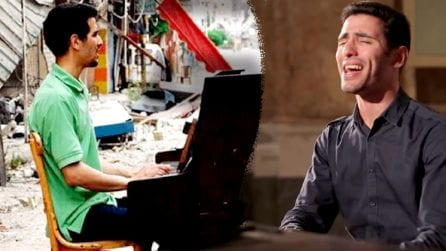 La favola di Aeham Ahmad che suonava sotto le bombe in Siria e ora duetta con Elodie a Sanremo