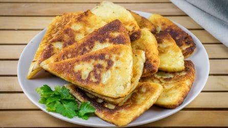 Bread potato triangles: the perfect alternative to bread!