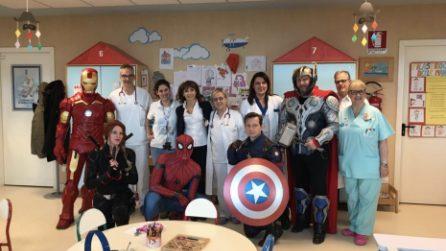 Mestre, nel reparto di pediatria arrivano i supereroi Marvel: stupenda sorpresa per i bambini