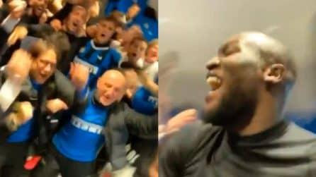 Lukaku svela la festa negli spogliatoi dell'Inter: il coro di sfottò ai milanisti