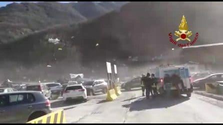 Piemonte, tempesta Ciara: le raffiche di vento fanno volare tutto