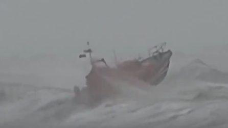 Guardia Costiera esce per salvare un surfista: la tempesta investe anche l'imbarcazione