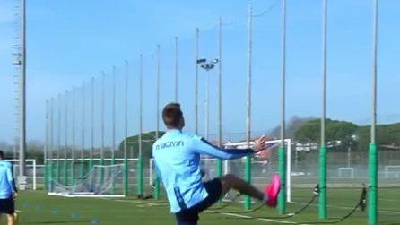 Milinkovic Savic segna un gol spettacolare in allenamento e lascia tutti senza parole