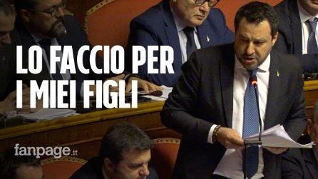 """Caso Gregoretti. Salvini: """"A processo per dimostrare ai miei figli che non sono sequestratore"""""""