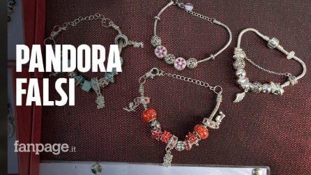 Gioielli Pandora falsi sulle bancarelle di Napoli