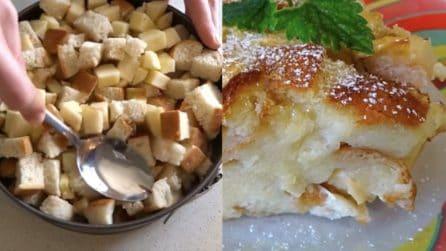 Torta di pane raffermo: la ricetta golosa per riciclarlo