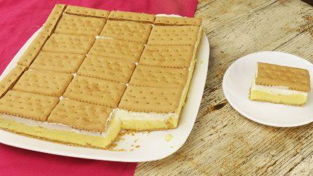 Torta di biscotti senza cottura: il dolce perfetto per la merenda!