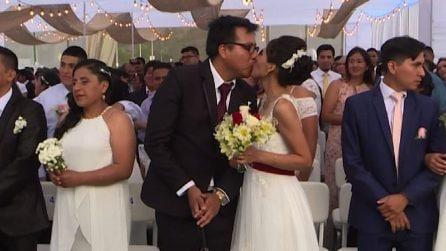 Perù, matrimonio collettivo in spiaggia per 95 coppie