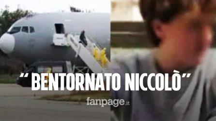 Coronavirus, Niccolò è tornato in Italia: ad accoglierlo Luigi Di Maio e la famiglia del 17enne