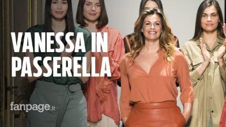 """Vanessa Incontrada in passerella per Elena Mirò: """"Quando disegniamo pensiamo a lei e a tutte le donne"""""""