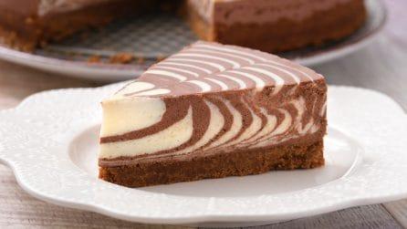 Cheesecake zebrata: il dolce facile da realizzare e dal risultato spettacolare!