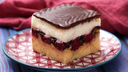 Donauwellen: la torta ciliegie, crema e cioccolato che vi farà impazzire!