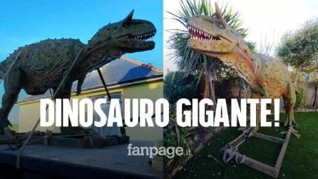 Compra online un dinosauro per il figlio, a casa gli arriva una statua a grandezza naturale