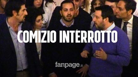 """Salta la corrente al comizio di Salvini, i sostenitori: """"Colpa di de Magistris"""""""