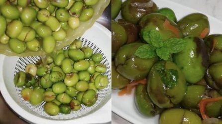 Olive schiacciate e condite: la ricetta semplice e deliziosa