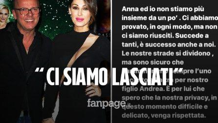 """Anna Tatangelo e Gigi D'Alessio si sono lasciati, la conferma su Instagram: """"Ci abbiamo provato"""""""