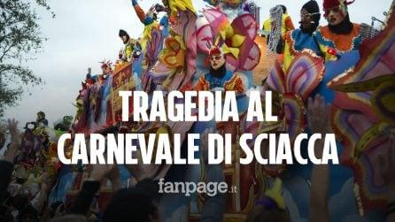 Tragedia al Carnevale di Sciacca, bimbo di quattro anni muore candendo da un carro