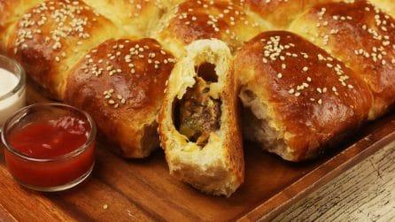 Rustico ripieno di carne e formaggio: piacerà a grandi e piccini!
