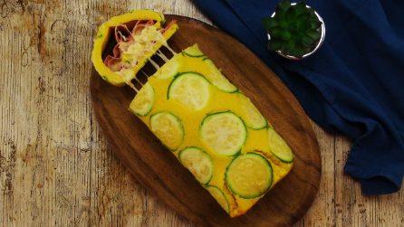 Rotolo di frittata di zucchine: l'idea per una cena piena di sapore!