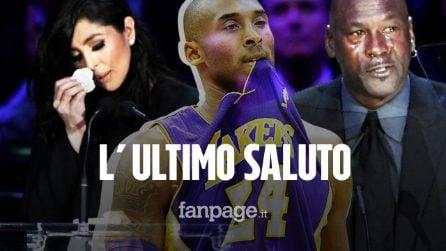 Funerale Kobe Bryant, il dolore e le lacrime della moglie Vanessa e di Michael Jordan