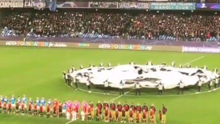 Napoli-Barcellona, l'urlo 'The Champions' al San Paolo dei tifosi azzurri
