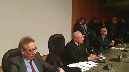 """Coronavirus Campania, De Luca: """"Probabile caso, aspettiamo risultati da Roma"""""""