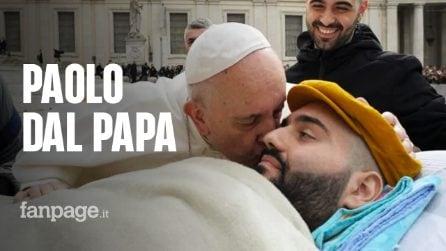 "Paolo Palumbo incontra Papa Francesco: ""Santo padre io prego per lei, lei preghi per me"""