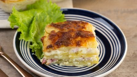Potatoes au gratin: they are always welcome at lunch table!