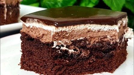 Torta al cioccolato con panna: il dessert semplice ma buonissimo